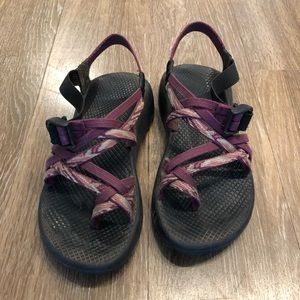 Womens Chaco ZX/2. Purple double strap. Size 8.